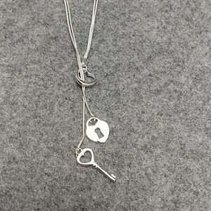 925 silver lariat necklace
